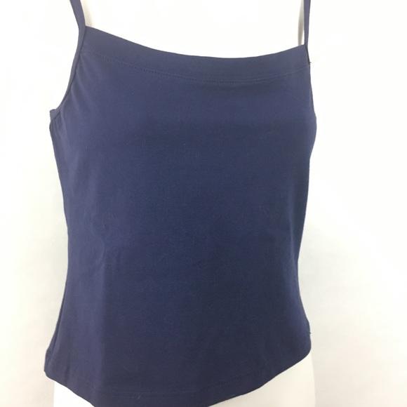 e6eabd5300ec7d Capezio camisole cami top bra lined navy cotton XL